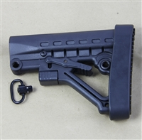 223/5.56 6-Position Stock mil-spec with thick recoil pad and detachable sling swivel
