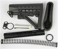 223/5.56 6-Position Stock Kit-Stock buffer tube W/ Non-Slip Butt Pad
