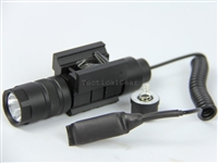 150 Lumen Rifle Shotgun LED Compact Tactical Flashlight Picatinny Wire Switch