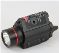 Rifle/Pistol 260 Lumen CREE Q5 LED FlashLight w/ RED Laser Sight U.S- SELLER