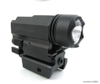 Pistol Flashlight/ Red laser Quick Release 180 Lumen Cree Led Powered Combo