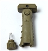 Tactical 5 POSITION FOLDING FOLDABLE Foregrip Fore Grip Tan