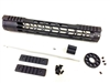"12.5"" Mlok Handguard Free Float +Gas Block + Carbine Gas Tube & end cap .223/5.56"