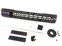 "15"" Mlok Handguard Rifle Length Free Float +Gas Block + Gas Tube & end cap"