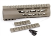 "7"" Super Slim Handguard Free Float KeyMod Extra Light AR15 .223 5.56 - CLAMP-ON STYLE- FDE"