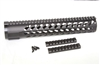 "12"" KEYMOD Handguard Mid Length Free Float quad rail w/2 detachable KeyMod Rail"