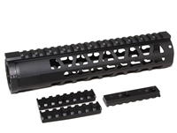 "10"" KEYMOD Handguard Mid Length Free Float quad rail w/2 detachable KeyMod Rail"