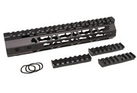 "10"" ULTRA LIGHT SUPER SLIM KEYMOD Handguard Mid Length Free Float quad rail"