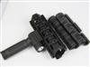 "6.7"" AR Quad Rail Handguard Carbine Length 2 Piece Drop-In + Flashlight foregrip + w/12pcs rubber cover"