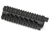 "6.7"" AR Quad Rail Handguard Carbine Length 2 Pcs Drop-In w/Delta Ring Bridge Rail"