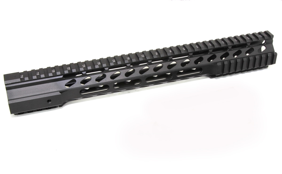 15 Super Slim Hybrid Handguard Free Float Extra Light Ar15 223