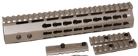 "10"" Super Slim 7-side KeyMod Handguard Free Floating Quad Rail- FDE Flat Dark Earth AR15 223 5.56"