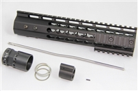 "10"" Ultralight super slim KEYMOD Handguard Mid Length Free Float +Gas Block + Gas Tube"