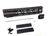 "10"" Ultralight super slim Mlok Handguard Free Float +Pistol Gas tube+ Gas block"
