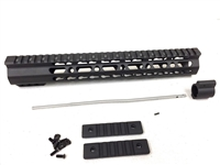"12.5"" Ultralight super slim KEYMOD Handguard Free Float +Gas Block + Gas Tube"