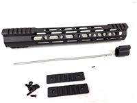 "12.5"" Ultralight super slim Mlok Handguard Free Float +Gas Block + Gas Tube"