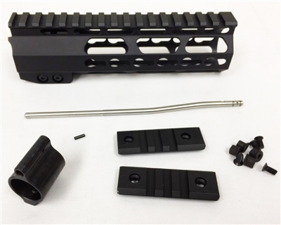 "7"" Ultralight super slim KEYMOD Handguard pistol length + STEEL Gas Block + Gas Tube"