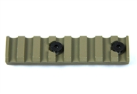 "FDE- Keymod 8 Slots 3.15"" inch 1913 Picatinny Rail Section Mil Spec Handguard"