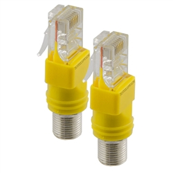Rexford Tools Female F to RJ45 Plug 2pc