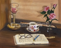 Rose Mavis Journaling By Candlelight