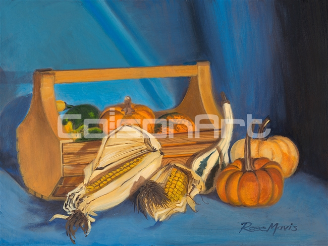 Rose Mavis Pumpkins and Gourds Still Life
