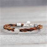 Donas Horse Hair Bracelet with Heart