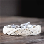 Spirithorse Designs Kael Horse Hair Bracelet in Sterling Silver