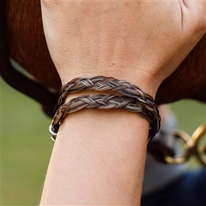 Spirithorse Designs Kael Wrap Horse Hair Bracelet in Sterling Silver
