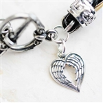 Heart Wing Sterling Charm