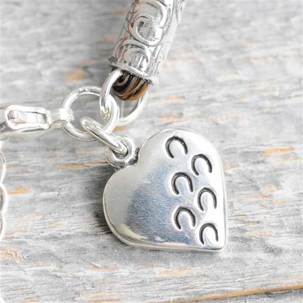 Hoofprints on My Heart Charm