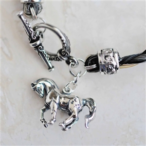 Sterling Silver Dancing Horse Charm