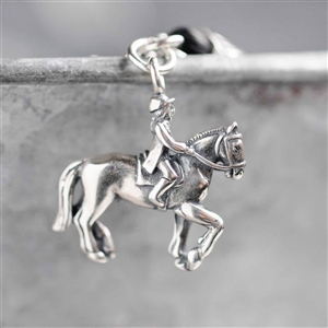Sterling Silver Dressage Charm