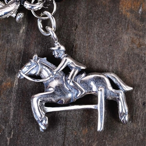 Sterling Silver Hunter Jumper Charm