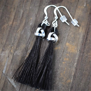 Spirithorse Isleen Horse Hair Earrings with Love Knot Beads
