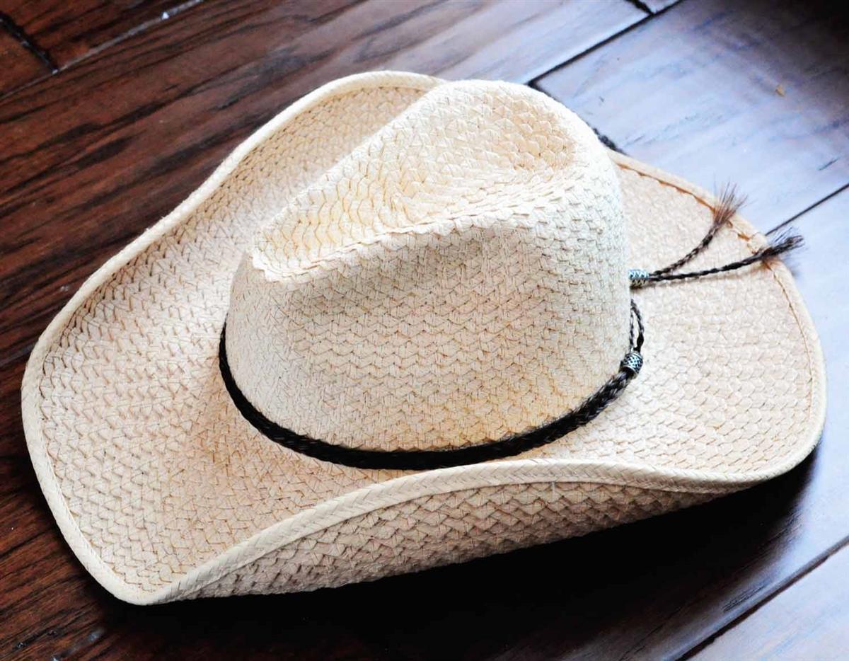 Western hat band handmade braided hatband, COWBOY HAT BAND