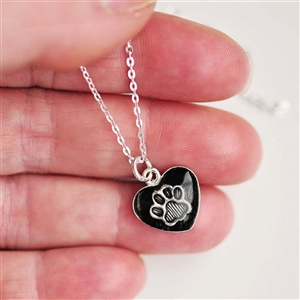 Sterling Heart Pet Hair Pendant and Necklace by Spirithorse Designs