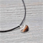 Small Heart Sterling horse Hair Pendant