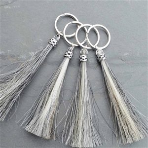 Spirithorse Designs Duncan Horse Hair Key Chain in sterling silver
