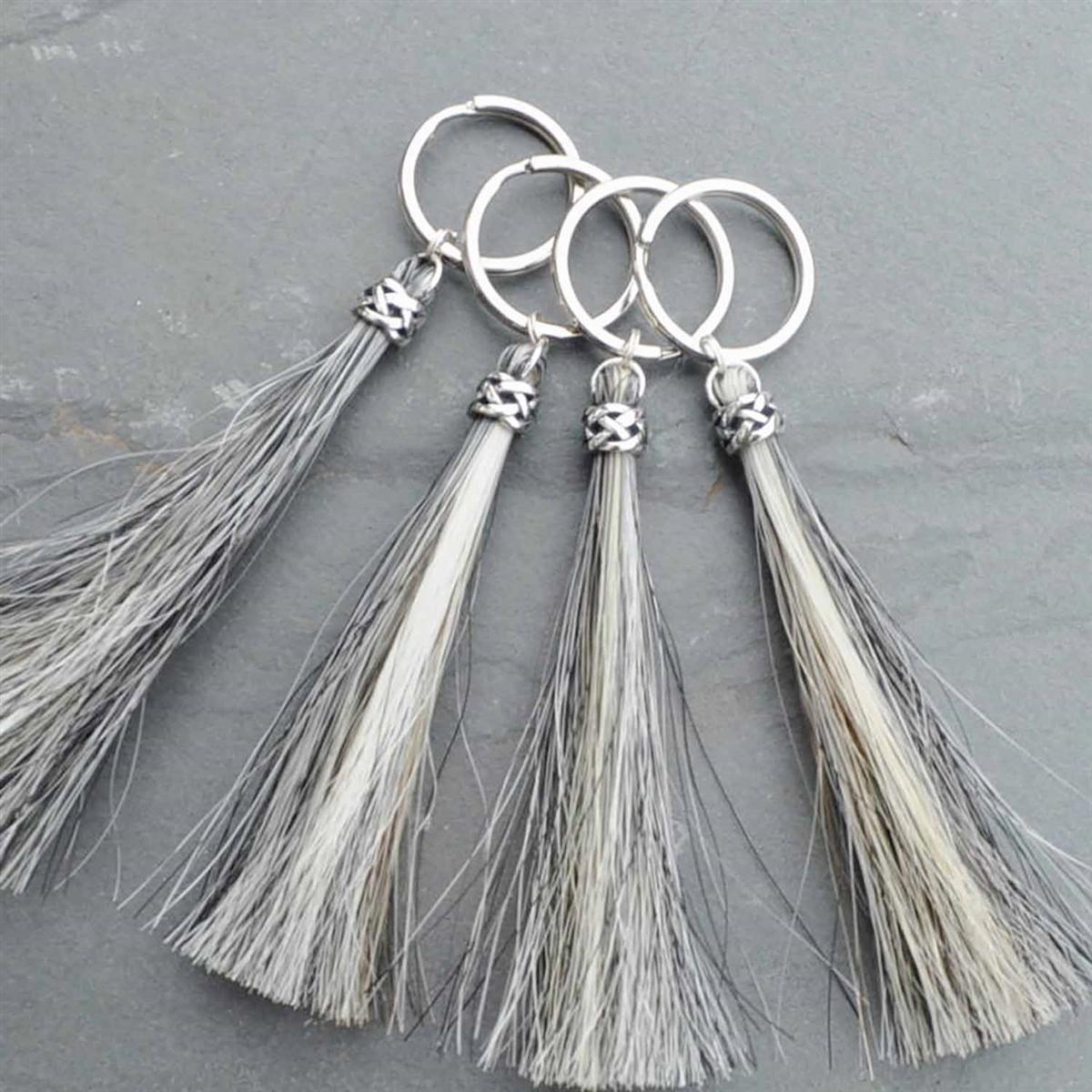 Spirithorse Designs Duncan Horse Hair Key Chain in sterling silver c0c76f866