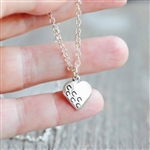 Hoof Prints On My Heart Necklace