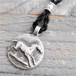 Running Horse Sterling Silver Horse Necklace