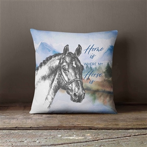 Whinnies & Woods Personalized Horse Throw Pillow