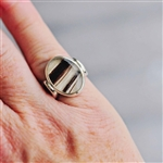 Sterling Horse Hair Ring Oval