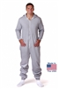 CoZone USA Adult Onesie - Heather Gray