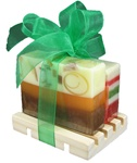 Two Soap Slices on a Deck - Christmas Gift Set