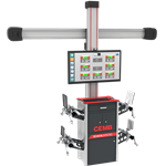 THE NEW 3D-HD TECHNOLOGY WHEEL ALIGNMENT SYSTEM WITH AUTOMATIC CAMERA BEAM