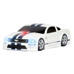 Mustang  GT(White w/Blue Stripes) WL Mouse