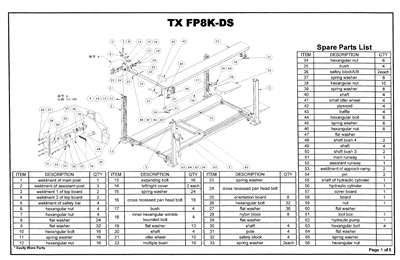 FP8K-DS Parts Breakdown