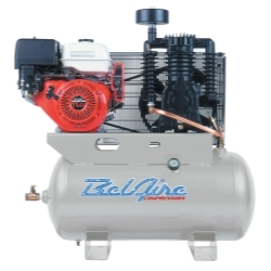BelAire - 11 HP 30 Gallon Horizontal Two Stage Gas Driven Air Compressor