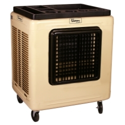 4,500 CFM mobile evaporative cooler, metal cabinet